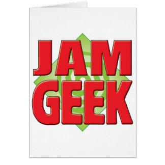 Jam Geek v2 Greeting Card