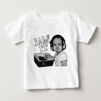 """Jam It"" Baby DJ spins on a Fisher Price turntable Baby T-Shirt"