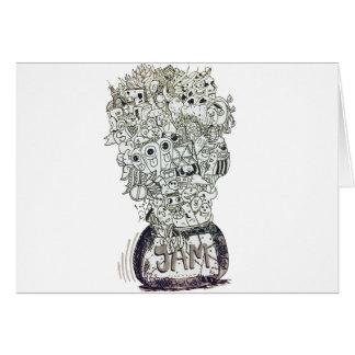 Jam Jar doodle Card