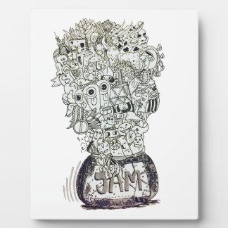 Jam Jar doodle Plaque