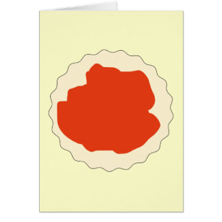 Jam Scone Graphic. Greeting Card