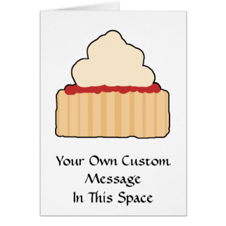 Jam Scone with Cream Topping. Greeting Card