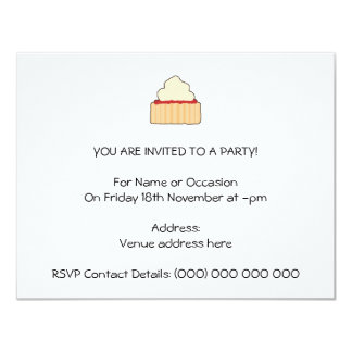 Jam Scone with Cream Topping. 4.25x5.5 Paper Invitation Card
