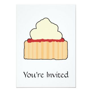 Jam Scone with Cream Topping. 5x7 Paper Invitation Card