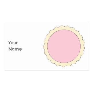Jam Tart. Pale Pink. Pack Of Standard Business Cards