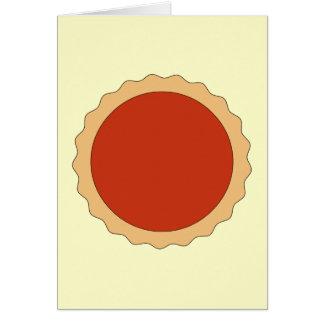 Jam Tart. Strawberry Red. Greeting Card