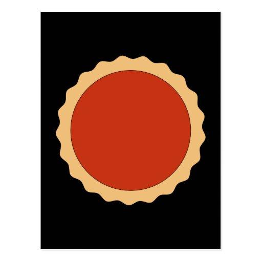 Jam Tart. Strawberry Red. Postcard