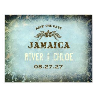 JAMAICA 2 Save the Date 11 Cm X 14 Cm Invitation Card