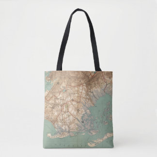 Jamaica Bay and Brooklyn Tote Bag