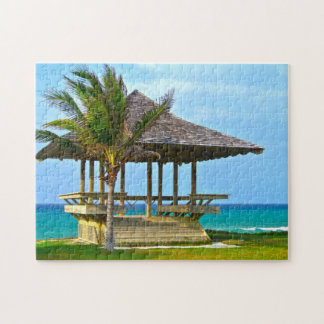 Jamaica Beach Hut. Jigsaw Puzzle