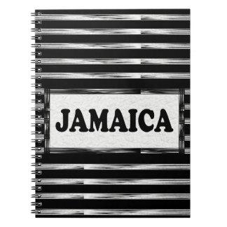 Jamaica Black White Designer Modern Notebook