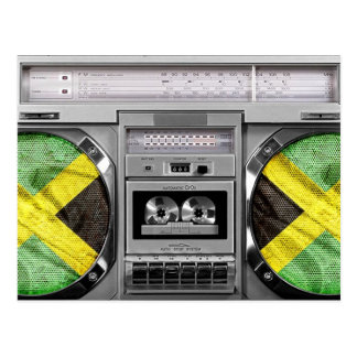 Jamaica boombox post card