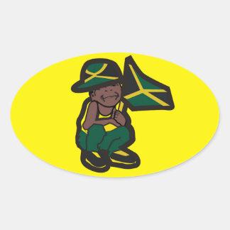 JAMAICA BOY OVAL STICKER