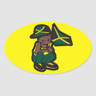 JAMAICA BOY OVAL STICKERS