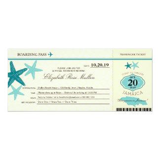 Jamaica Bridal Shower Boarding Pass 10 Cm X 24 Cm Invitation Card