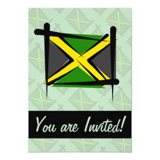 Jamaica Brush Flag 13 Cm X 18 Cm Invitation Card