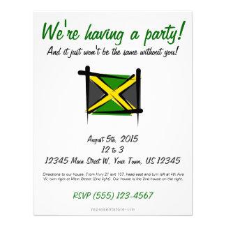 Jamaica Brush Flag Custom Invitations