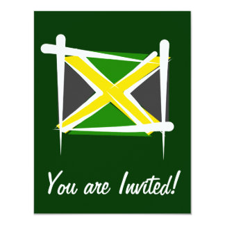 "Jamaica Brush Flag 4.25"" X 5.5"" Invitation Card"