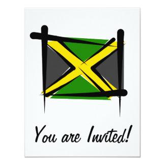 Jamaica Brush Flag 4.25x5.5 Paper Invitation Card