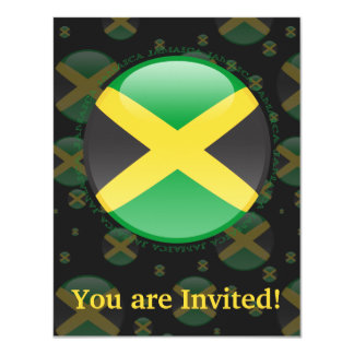 Jamaica Bubble Flag 11 Cm X 14 Cm Invitation Card