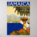 Jamaica Caribbean Sea Vintage Travel Print