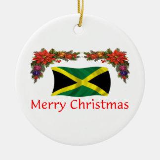 Jamaica Christmas Ceramic Ornament