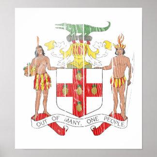 Jamaica Coat Of Arms Print