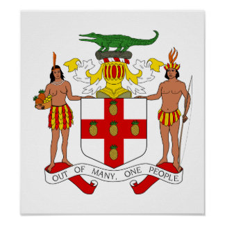 Jamaica Coat Of Arms Poster