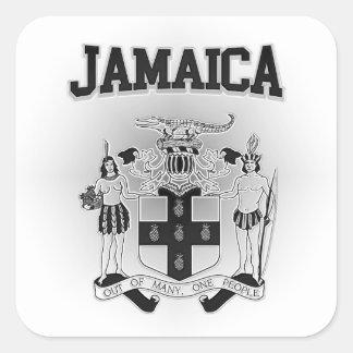Jamaica Coat of Arms Square Sticker