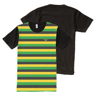 Jamaica Colors Designer Modern Flag Shirt