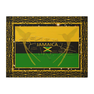 Jamaica Colors Parishes HummingBird Wood Wall Art1 Wood Wall Art
