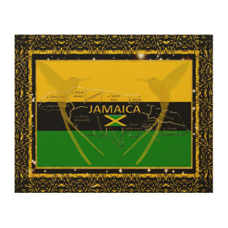 Jamaica Colors Parishes HummingBird Wood Wall Art2 Wood Wall Art