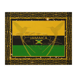 Jamaica Colors Parishes HummingBird Wood Wall Art3 Wood Print