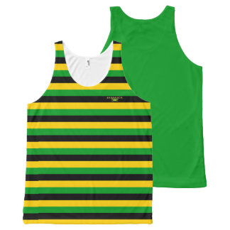 Jamaica Colors with Flag Modern Unisex Tank Sale