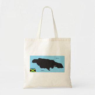 Jamaica country political map flag canvas bag