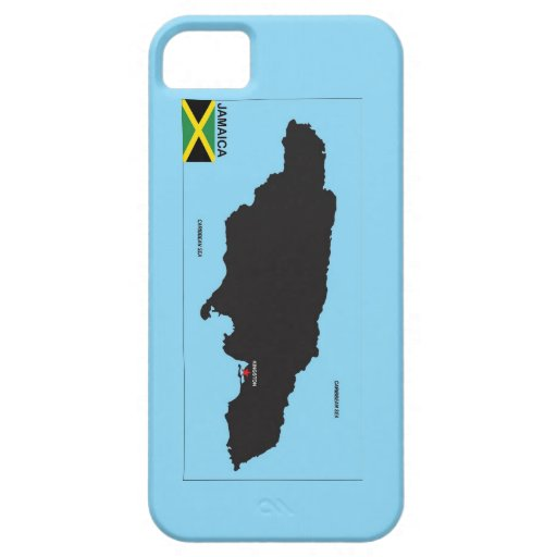 Jamaica country political map flag iPhone 5/5S cover