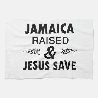 Jamaica designs tea towel