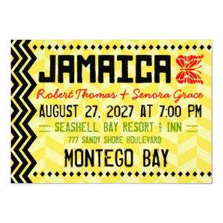 """JAMAICA Destination Invitation Linen Paper 5"""" X 7"""" Invitation Card"""