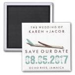 Jamaica Destination Wedding Save the Date Square Magnet