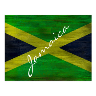 Jamaica distressed Jamaican flag Postcard