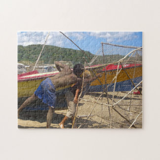 Jamaica Fishermen on a Beach. Jigsaw Puzzle