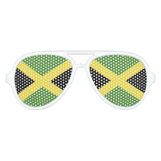 Jamaica Flag Aviator Sunglasses