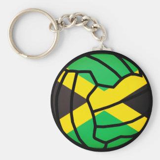 Jamaica Flag  Ball Design Netball Key Ring