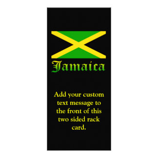 Jamaica Flag, Black, Green and Yellow Rack Card