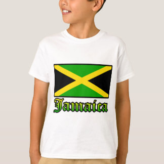 Jamaica Flag, Black, Green and Yellow T-Shirt