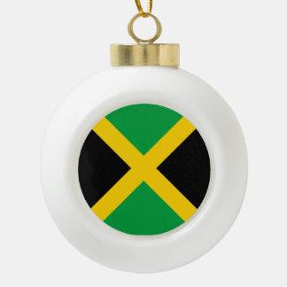 Jamaica Flag Ceramic Ball Christmas Ornament