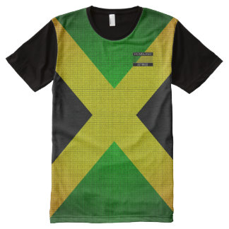 Jamaica Flag Colours Black Yellow Green T-Shirt