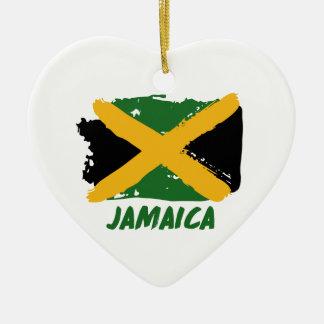Jamaica flag design ceramic ornament