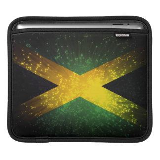 Jamaica Flag Firework Sleeve For iPads