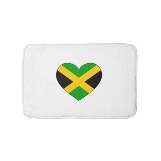 Jamaica Flag Heart Bath Mats
